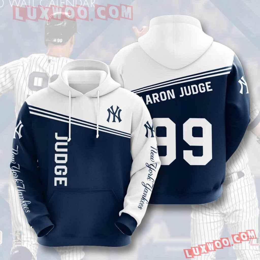 Mlb New York Yankees 3d Hoodies Printed Zip Hoodies Sweatshirt Jacket V27