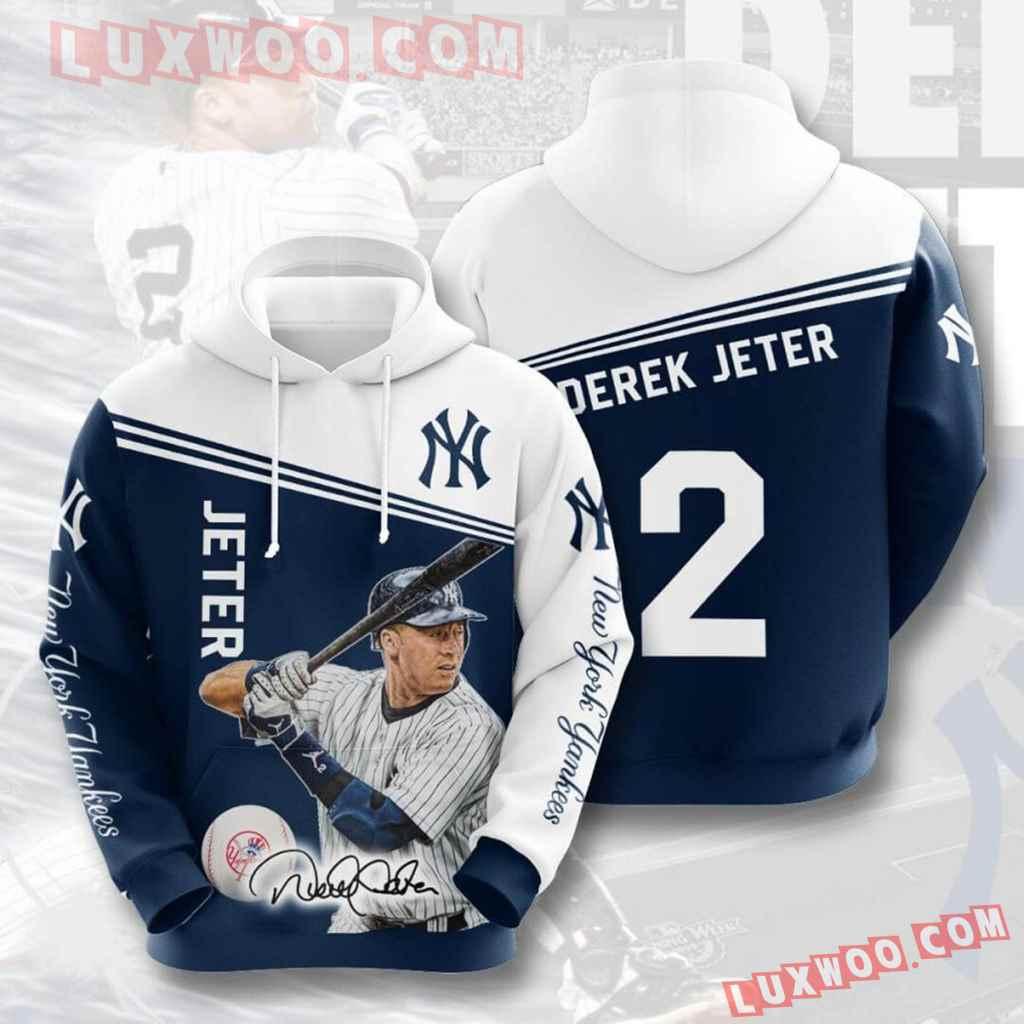 Mlb New York Yankees 3d Hoodies Printed Zip Hoodies Sweatshirt Jacket V28