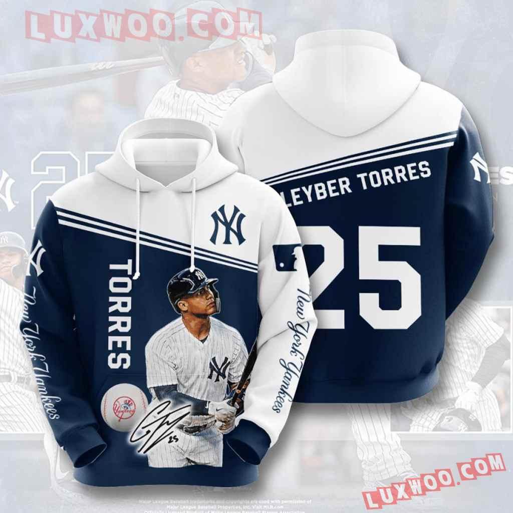 Mlb New York Yankees 3d Hoodies Printed Zip Hoodies Sweatshirt Jacket V29