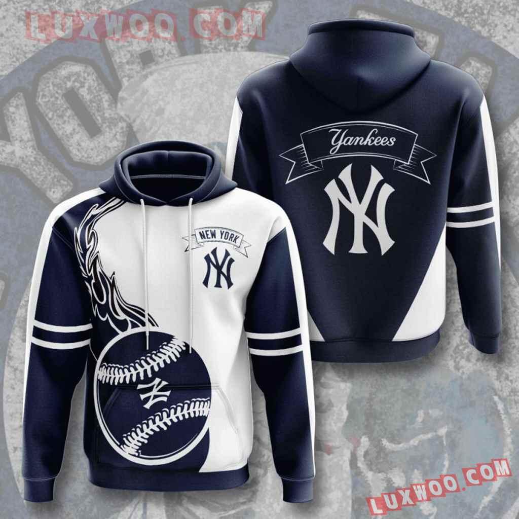 Mlb New York Yankees 3d Hoodies Printed Zip Hoodies Sweatshirt Jacket V3