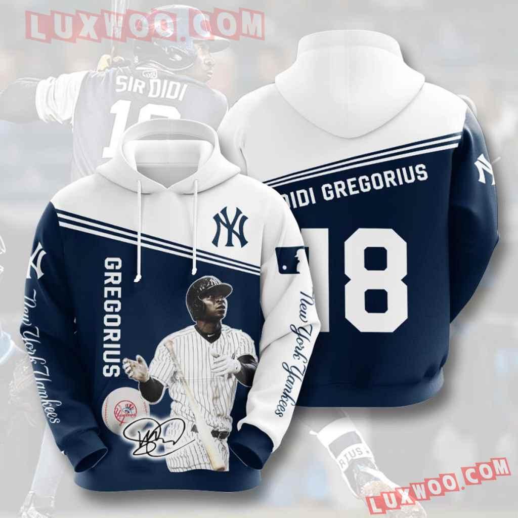 Mlb New York Yankees 3d Hoodies Printed Zip Hoodies Sweatshirt Jacket V31