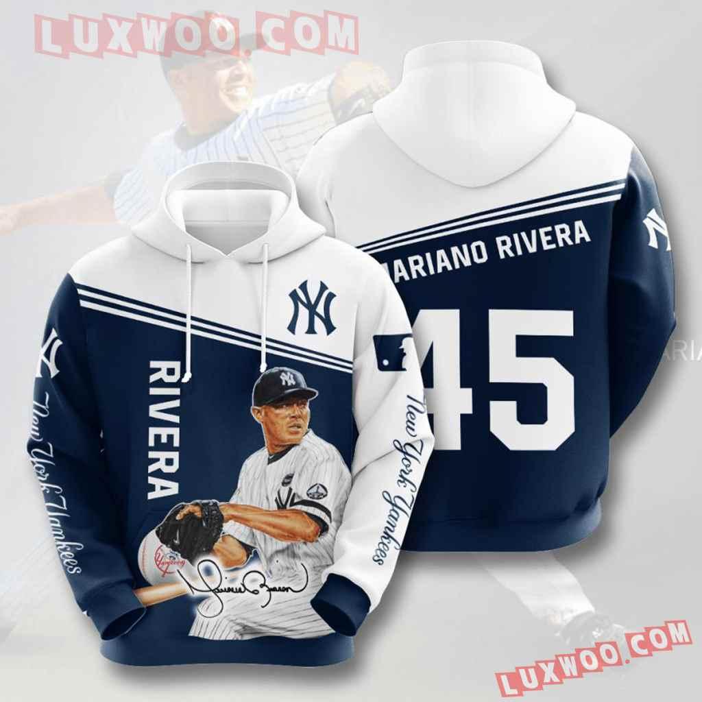 Mlb New York Yankees 3d Hoodies Printed Zip Hoodies Sweatshirt Jacket V32
