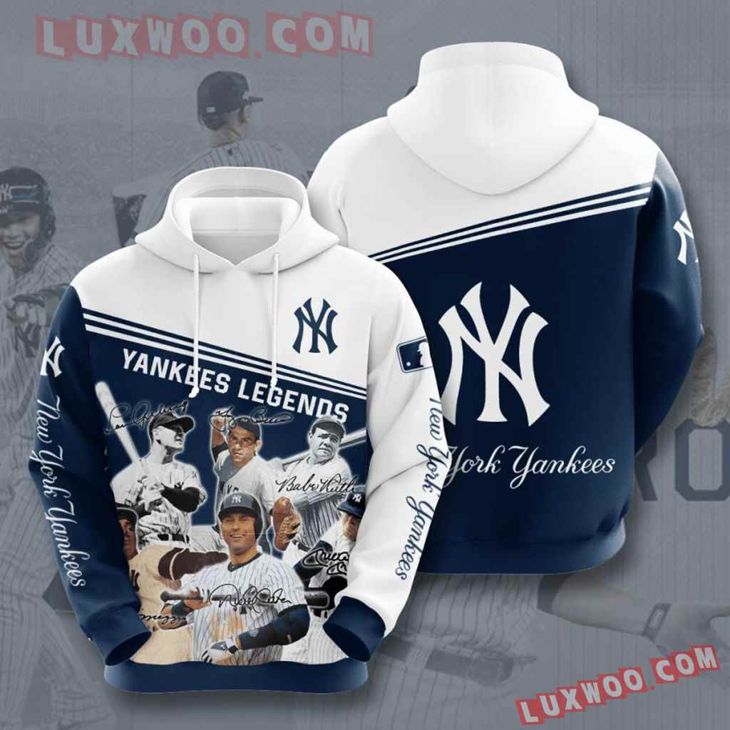 Mlb New York Yankees 3d Hoodies Printed Zip Hoodies Sweatshirt Jacket V34