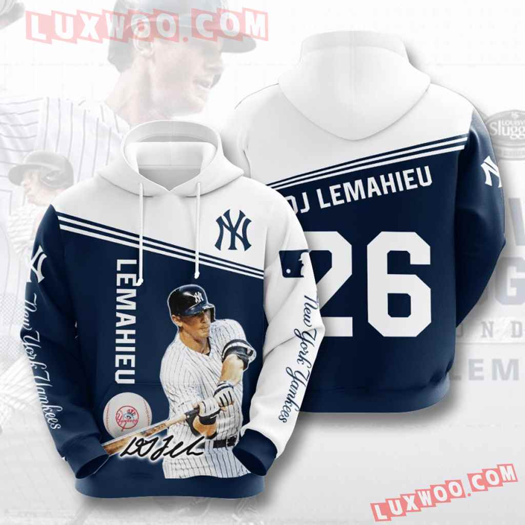 Mlb New York Yankees 3d Hoodies Printed Zip Hoodies Sweatshirt Jacket V35