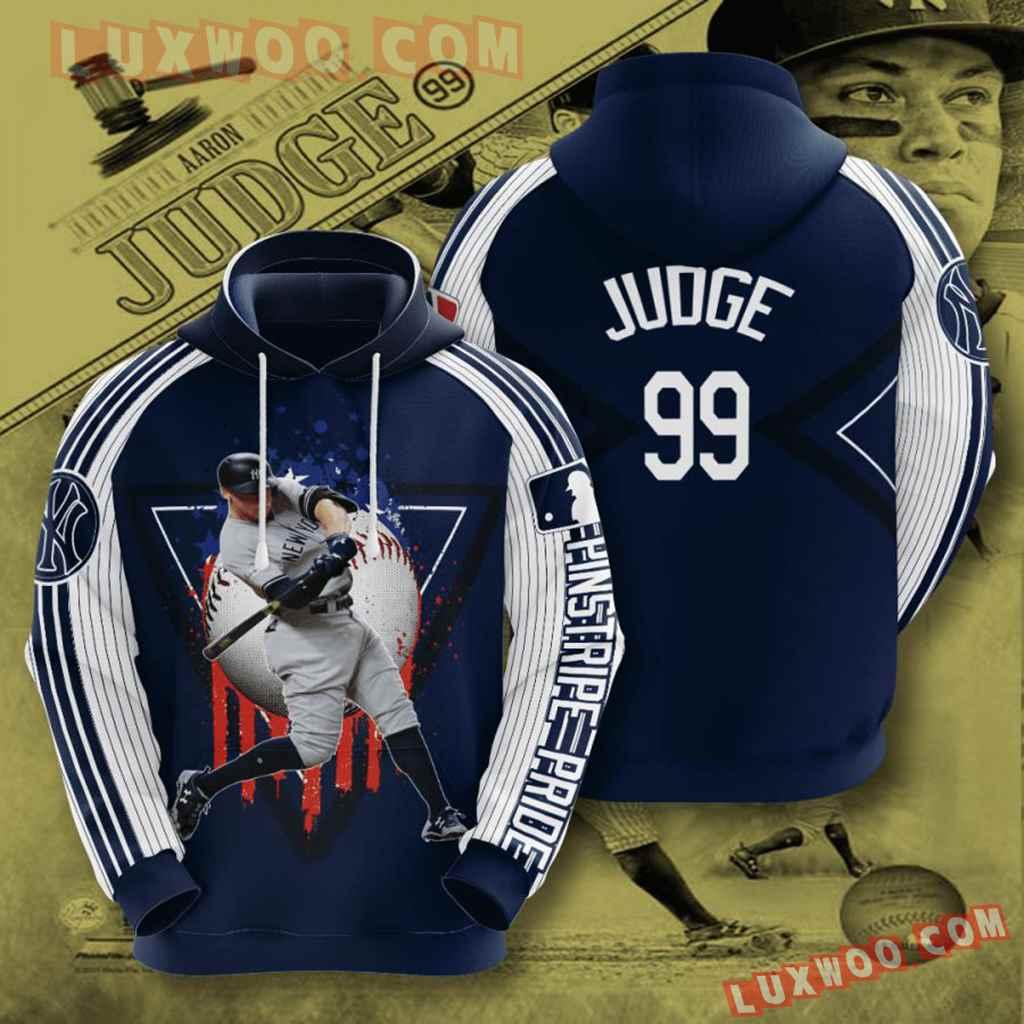 Mlb New York Yankees 3d Hoodies Printed Zip Hoodies Sweatshirt Jacket V37