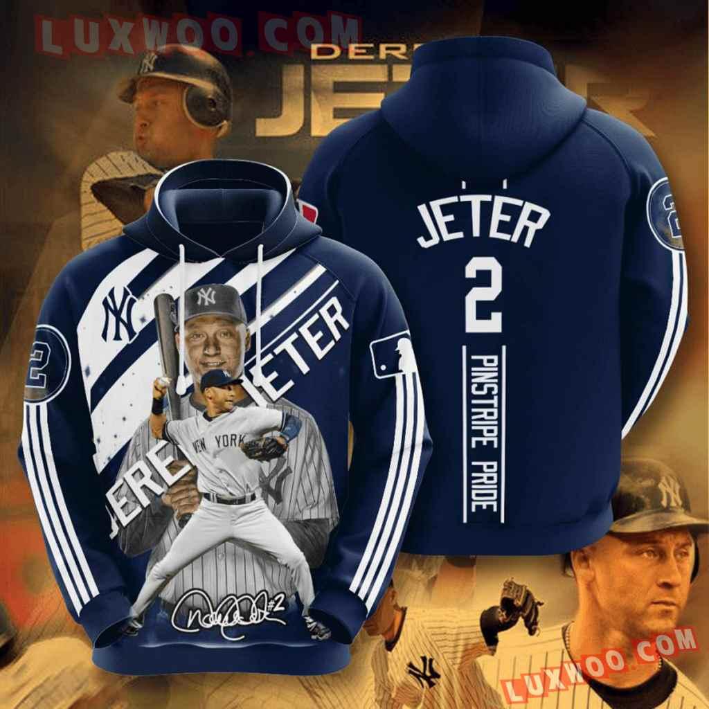 Mlb New York Yankees 3d Hoodies Printed Zip Hoodies Sweatshirt Jacket V38