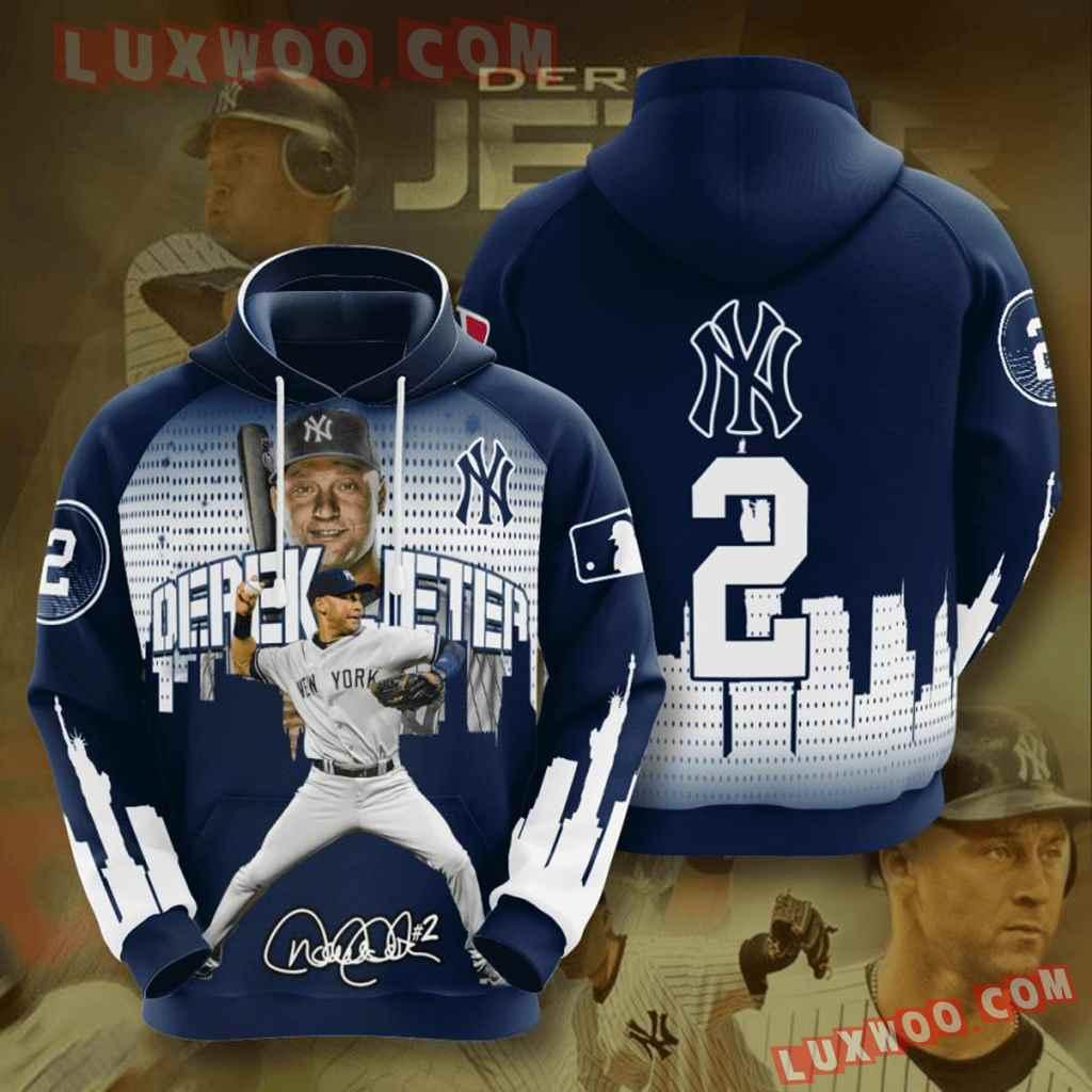 Mlb New York Yankees 3d Hoodies Printed Zip Hoodies Sweatshirt Jacket V39