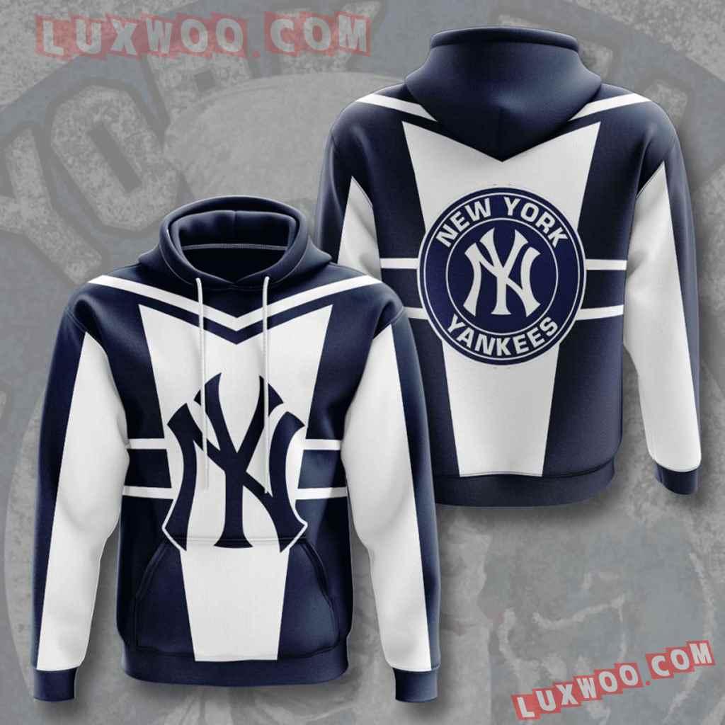 Mlb New York Yankees 3d Hoodies Printed Zip Hoodies Sweatshirt Jacket V4