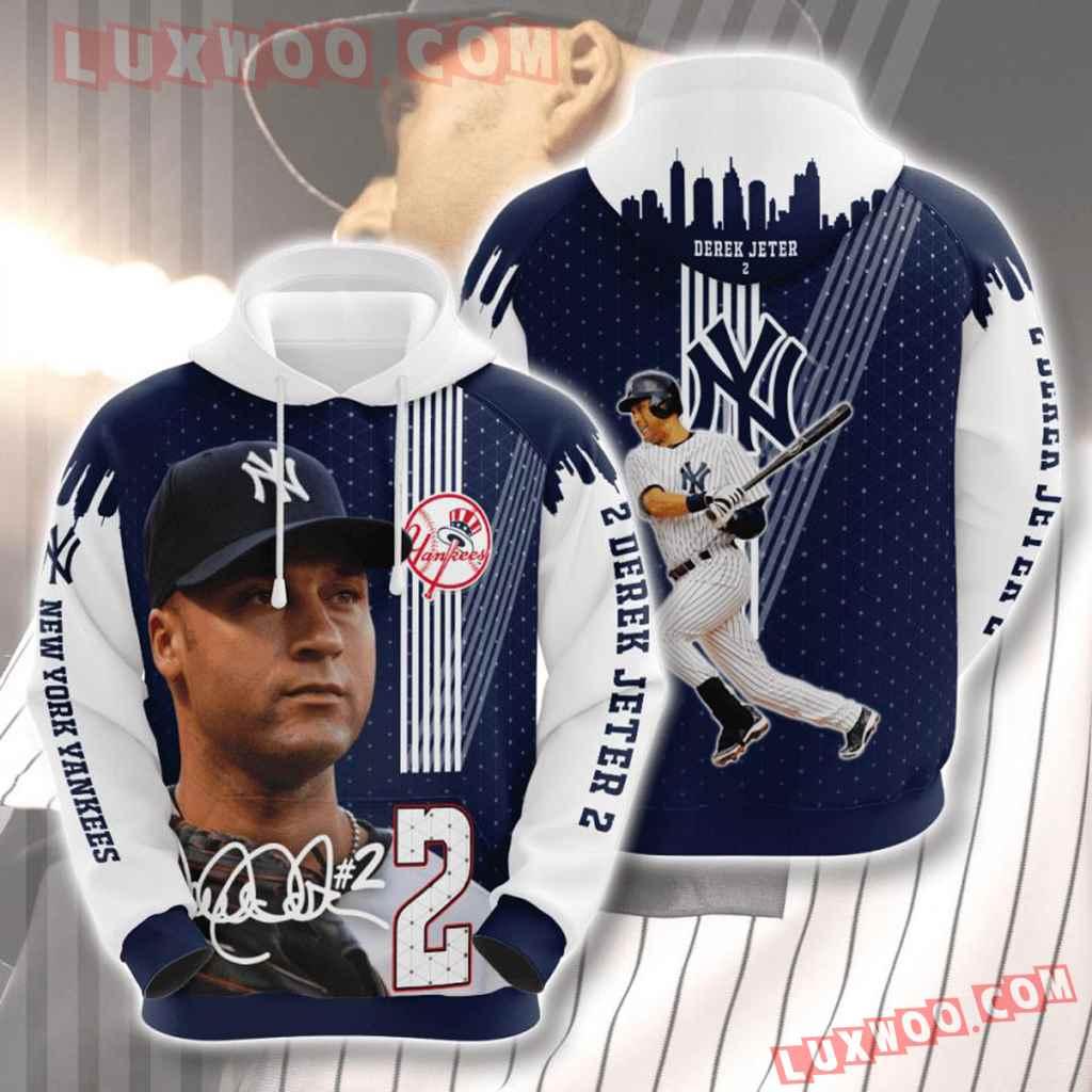 Mlb New York Yankees 3d Hoodies Printed Zip Hoodies Sweatshirt Jacket V40