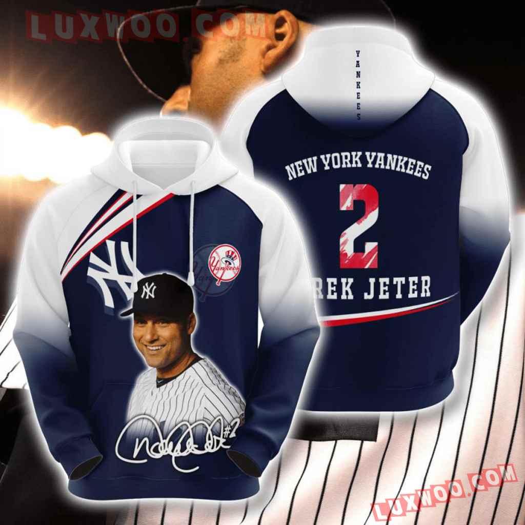 Mlb New York Yankees 3d Hoodies Printed Zip Hoodies Sweatshirt Jacket V41