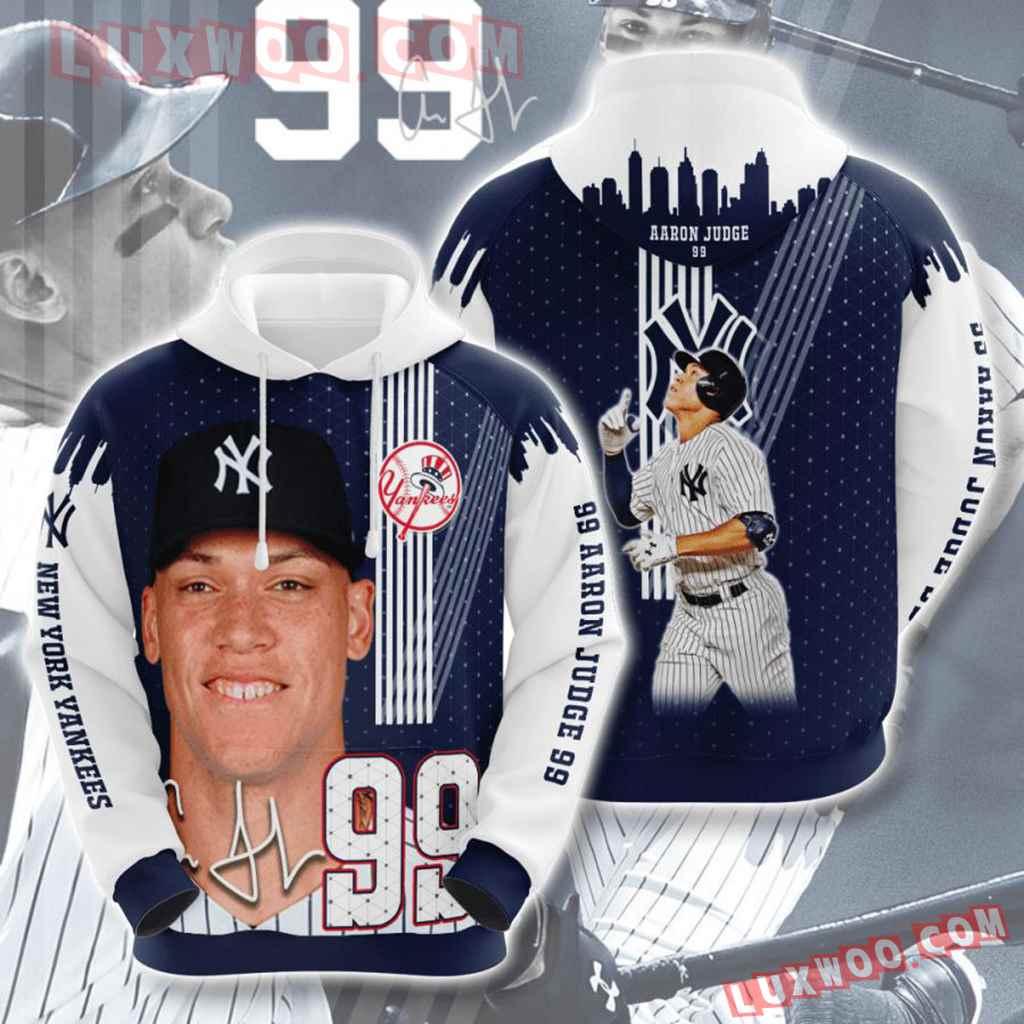 Mlb New York Yankees 3d Hoodies Printed Zip Hoodies Sweatshirt Jacket V42