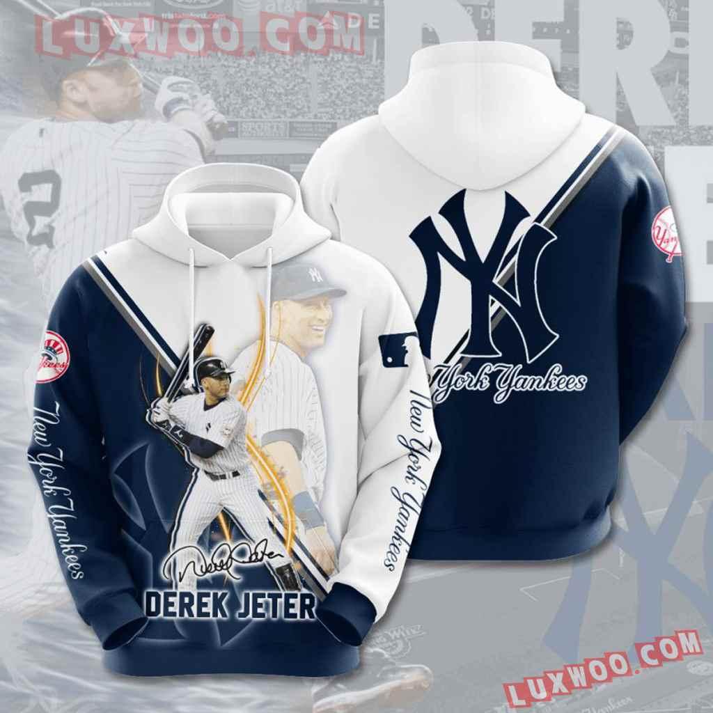 Mlb New York Yankees 3d Hoodies Printed Zip Hoodies Sweatshirt Jacket V44