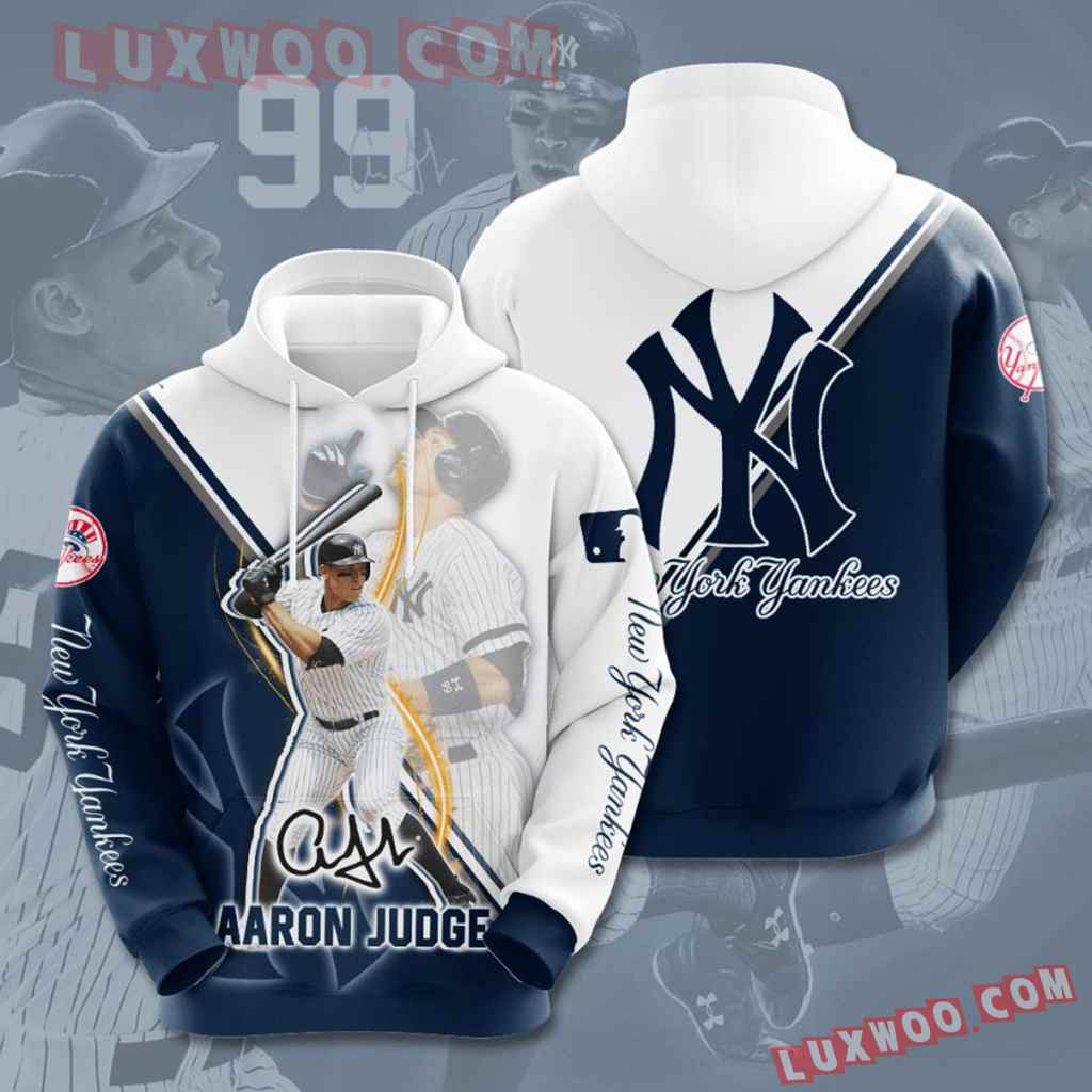 Mlb New York Yankees 3d Hoodies Printed Zip Hoodies Sweatshirt Jacket V45