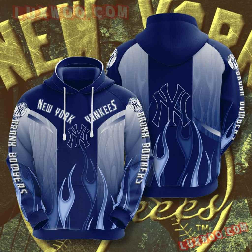 Mlb New York Yankees 3d Hoodies Printed Zip Hoodies Sweatshirt Jacket V46