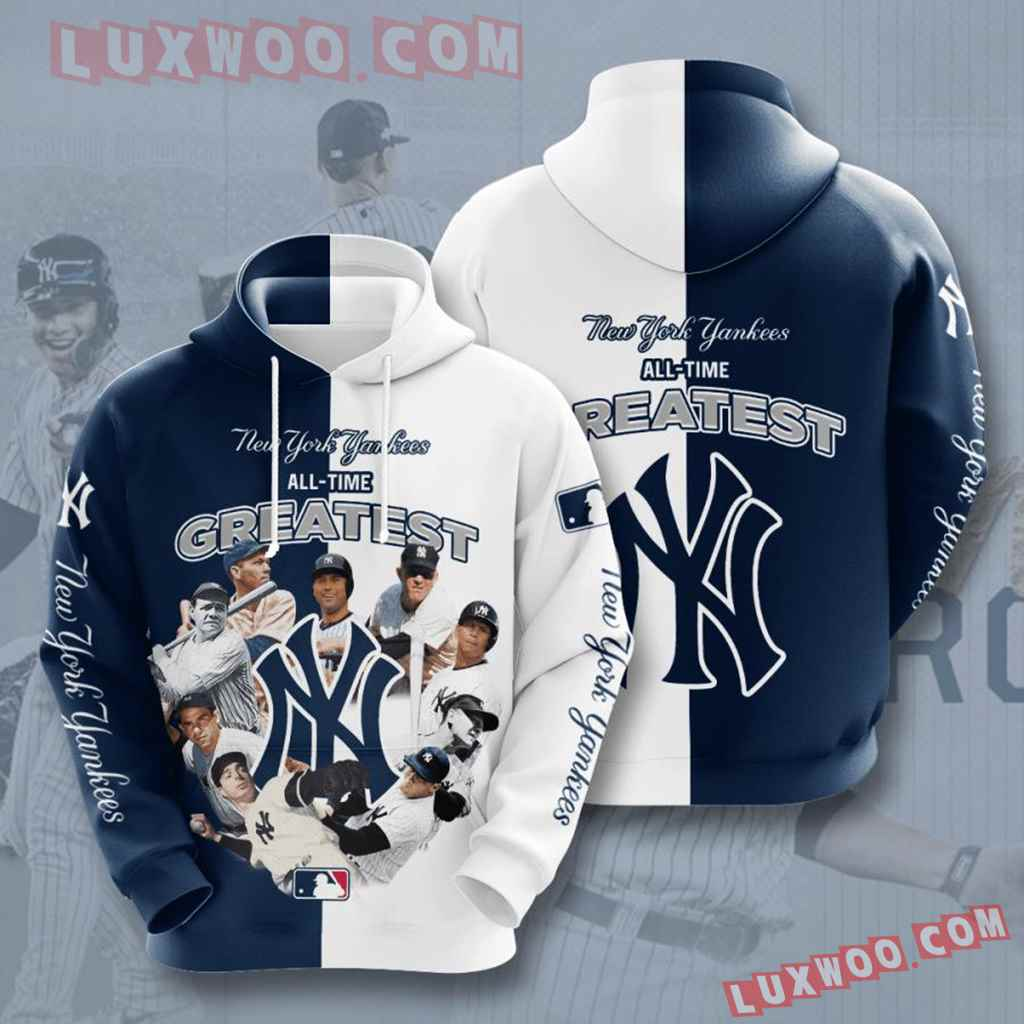 Mlb New York Yankees 3d Hoodies Printed Zip Hoodies Sweatshirt Jacket V47