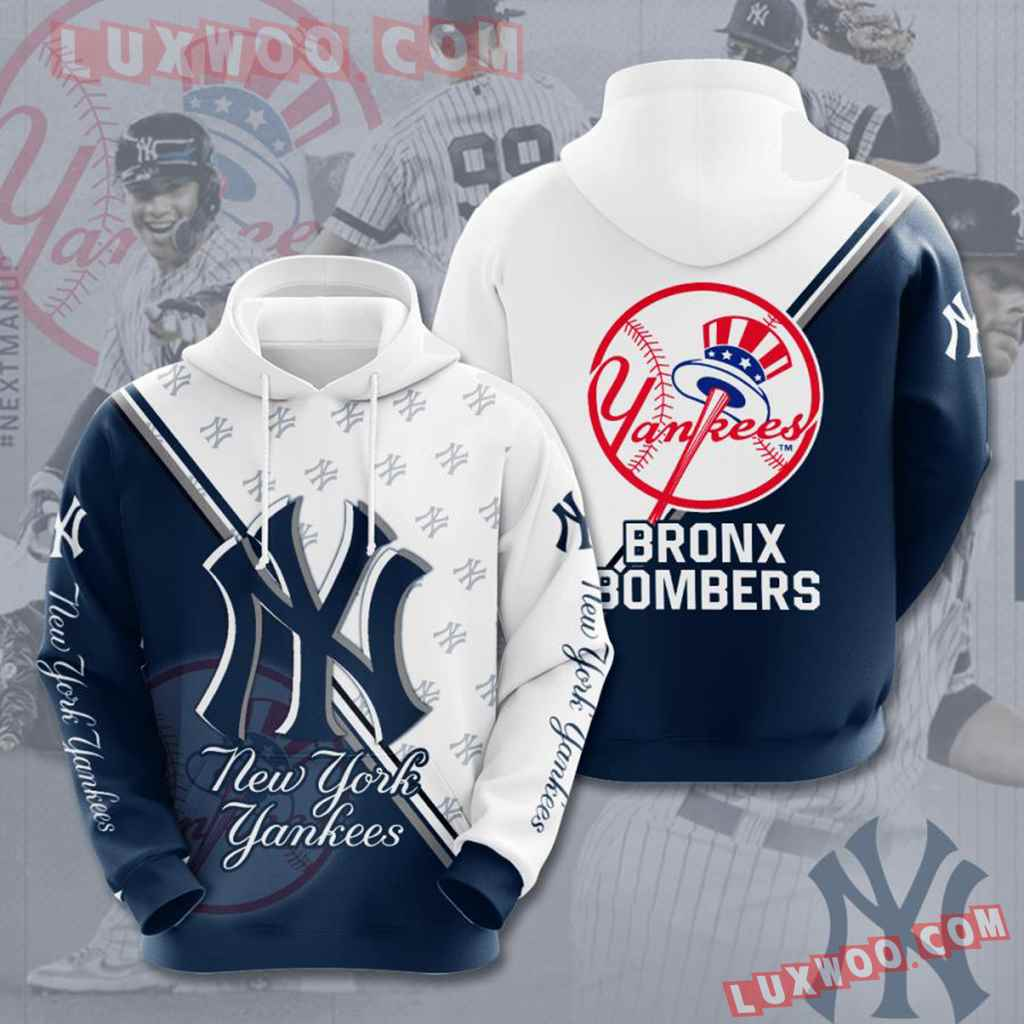 Mlb New York Yankees 3d Hoodies Printed Zip Hoodies Sweatshirt Jacket V48
