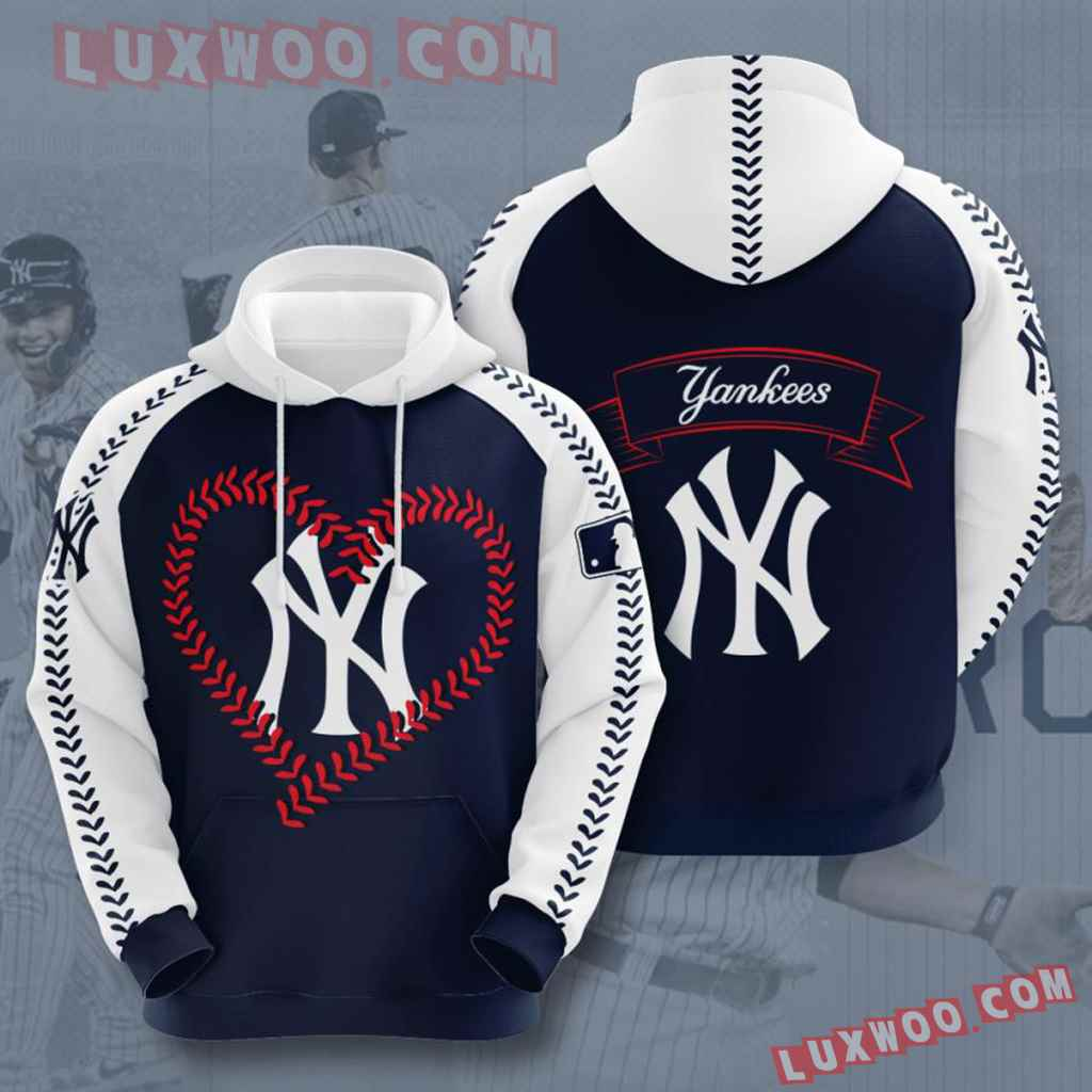 Mlb New York Yankees 3d Hoodies Printed Zip Hoodies Sweatshirt Jacket V49