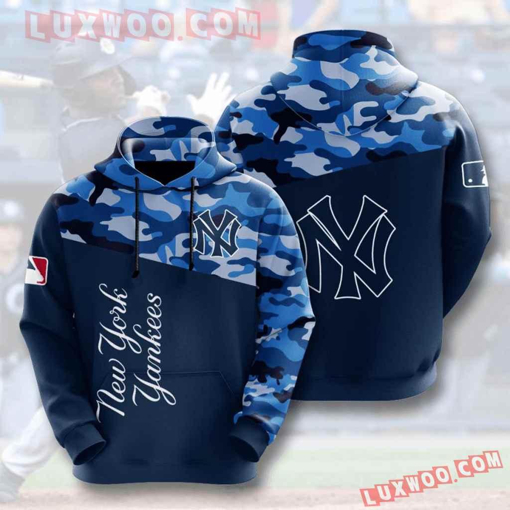 Mlb New York Yankees 3d Hoodies Printed Zip Hoodies Sweatshirt Jacket V6