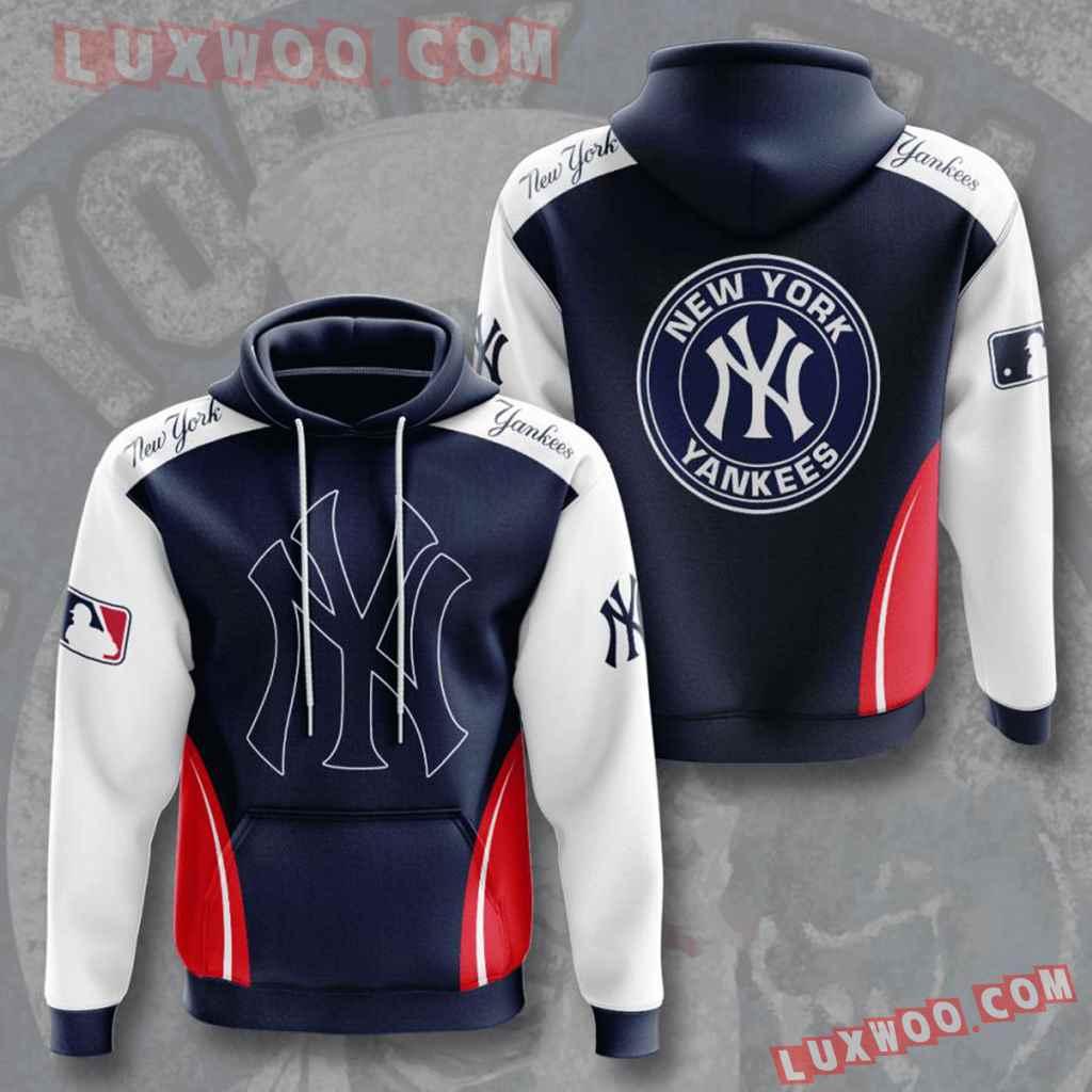 Mlb New York Yankees 3d Hoodies Printed Zip Hoodies Sweatshirt Jacket V7