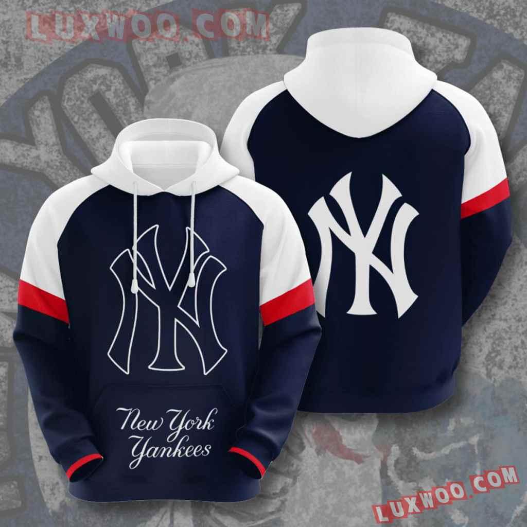 Mlb New York Yankees 3d Hoodies Printed Zip Hoodies Sweatshirt Jacket V9