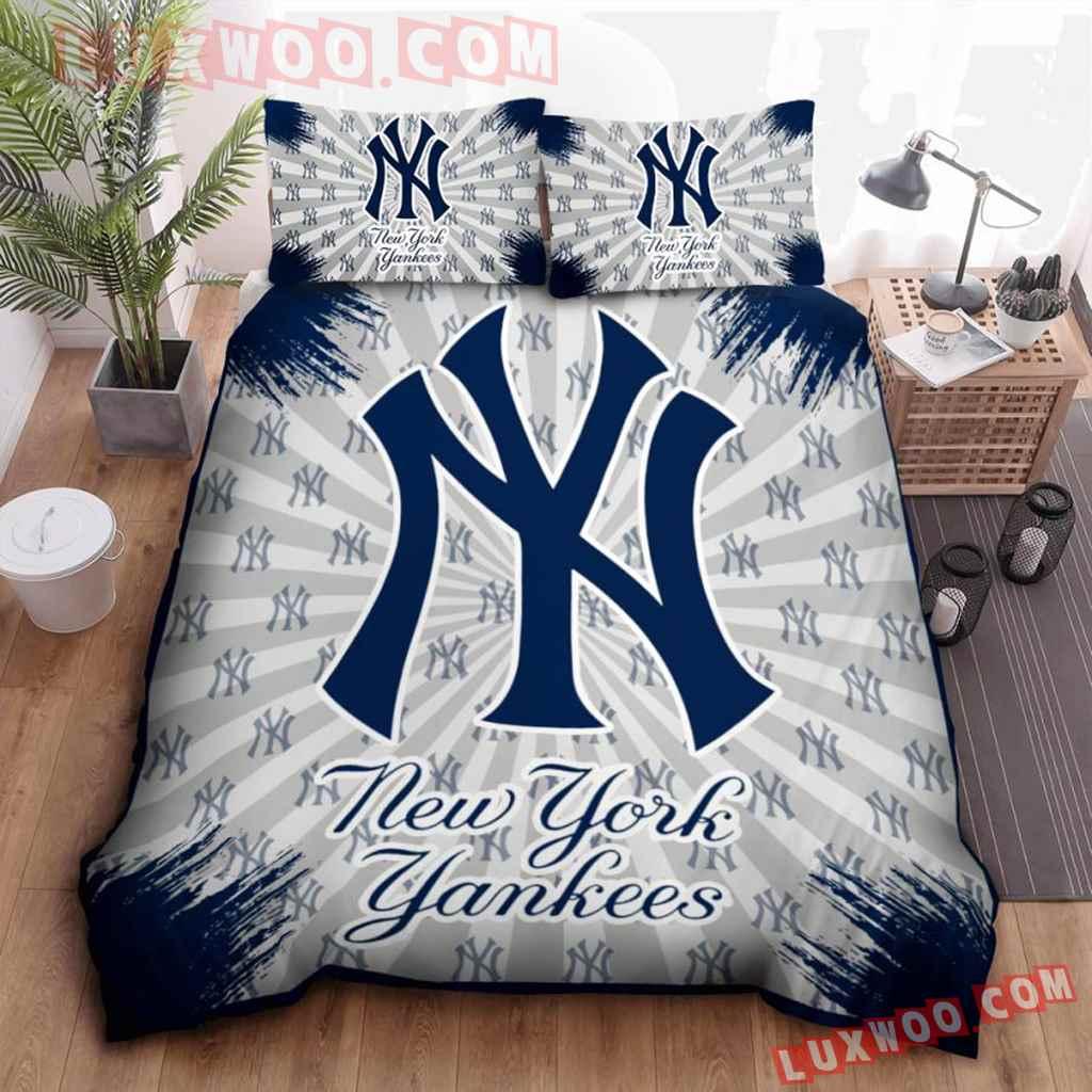 Mlb New York Yankees 3d Quilt Bedding Set V1