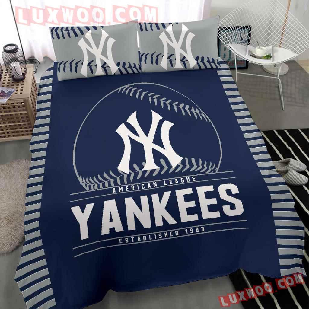 Mlb New York Yankees 3d Quilt Bedding Set V3