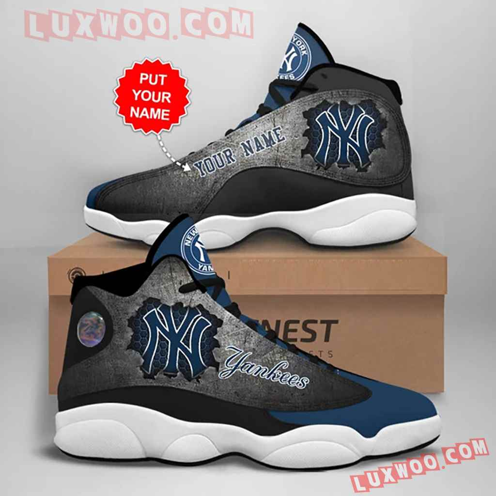 Mlb New York Yankees Air Jordan 13 Custom Shoes Sneaker V1 Personalized
