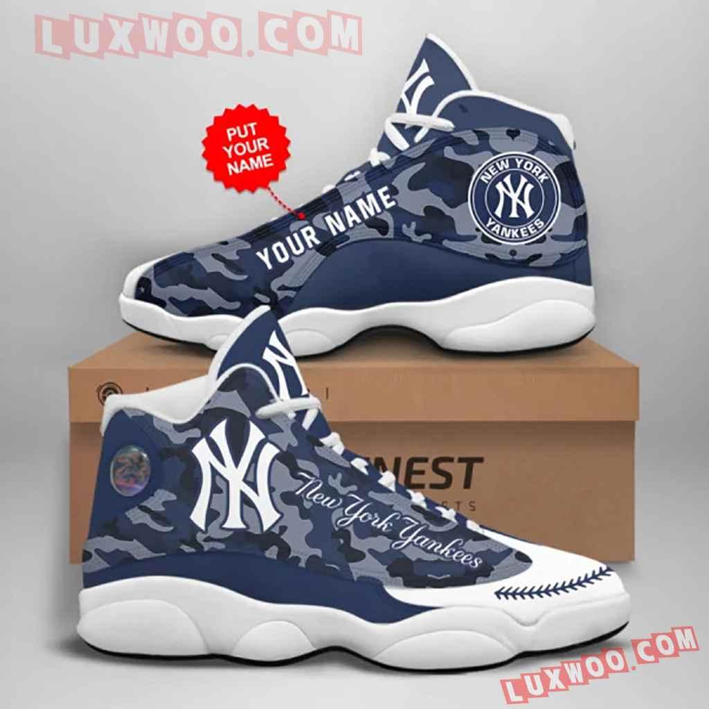 Mlb New York Yankees Air Jordan 13 Custom Shoes Sneaker V6 Personalized