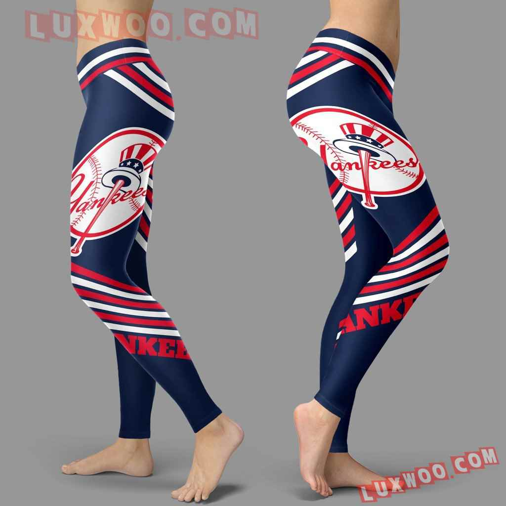 Mlb New York Yankees Leggings 3d Custom Print Leggings Sport V2