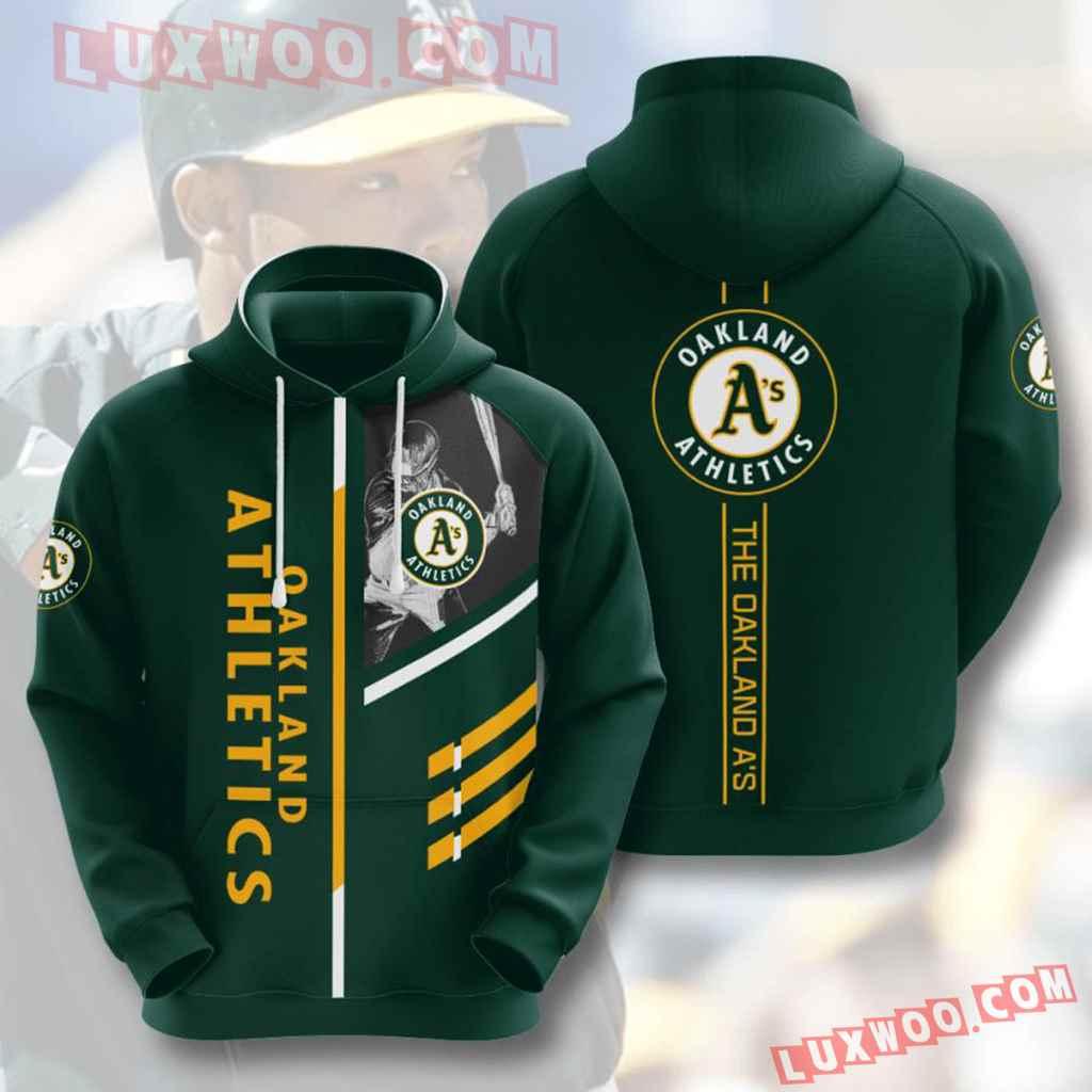 Mlb Oakland Athletics 3d Hoodies Printed Zip Hoodies Sweatshirt Jacket V1