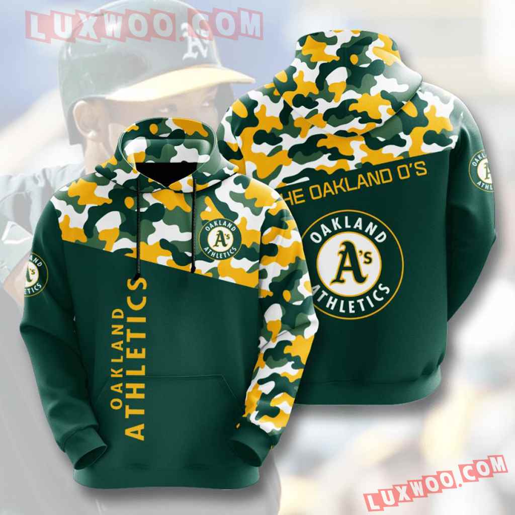 Mlb Oakland Athletics 3d Hoodies Printed Zip Hoodies Sweatshirt Jacket V2