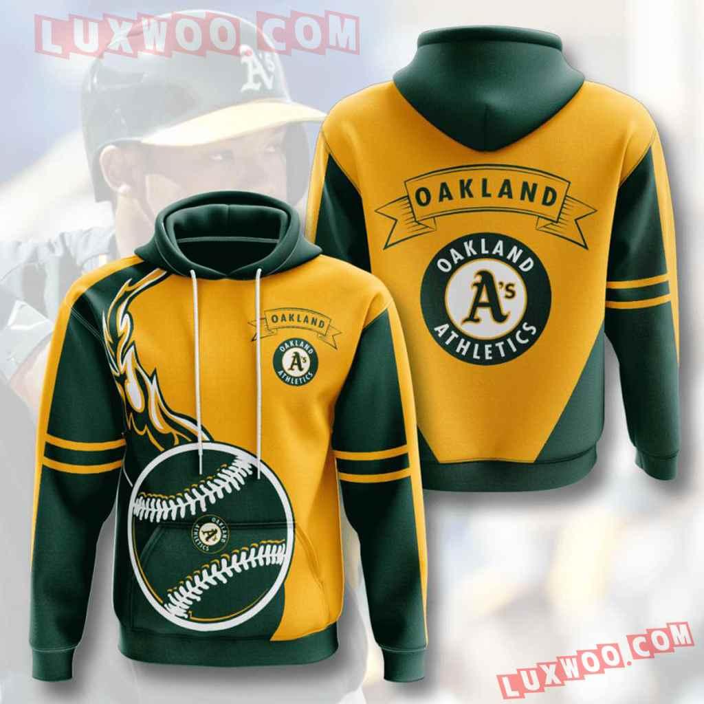 Mlb Oakland Athletics 3d Hoodies Printed Zip Hoodies Sweatshirt Jacket V3