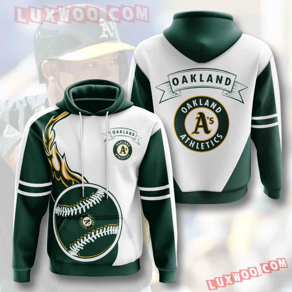 Mlb Oakland Athletics 3d Hoodies Printed Zip Hoodies Sweatshirt Jacket V4