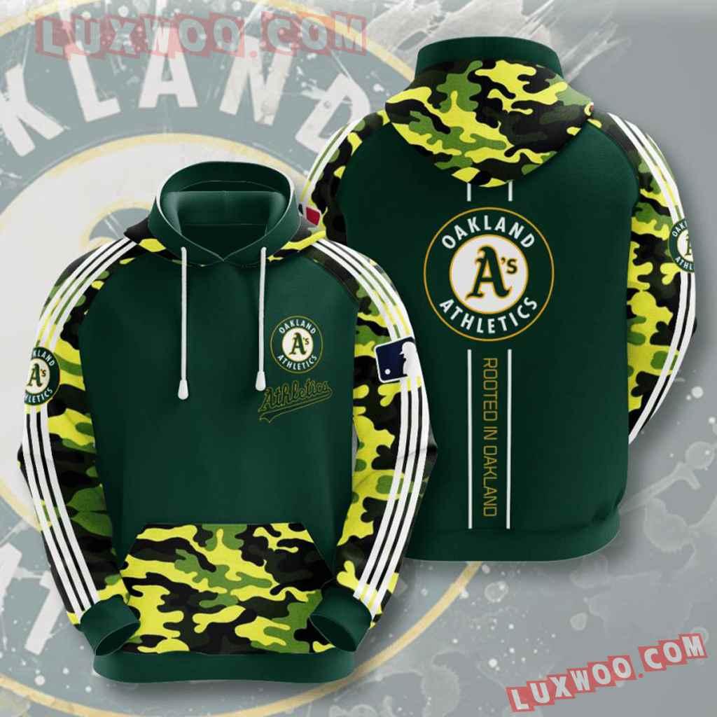 Mlb Oakland Athletics 3d Hoodies Printed Zip Hoodies Sweatshirt Jacket V5