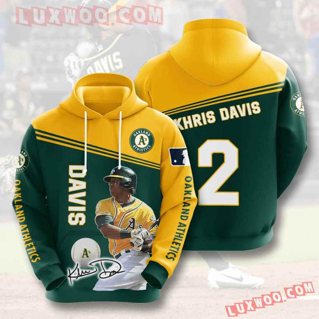 Mlb Oakland Athletics 3d Hoodies Printed Zip Hoodies Sweatshirt Jacket V7