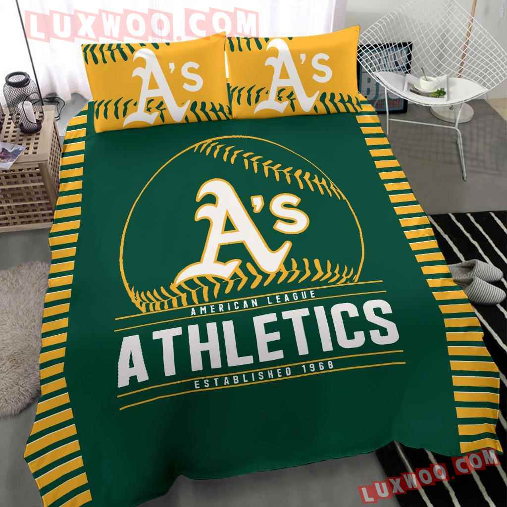 Mlb Oakland Athletics 3d Quilt Bedding Set V1