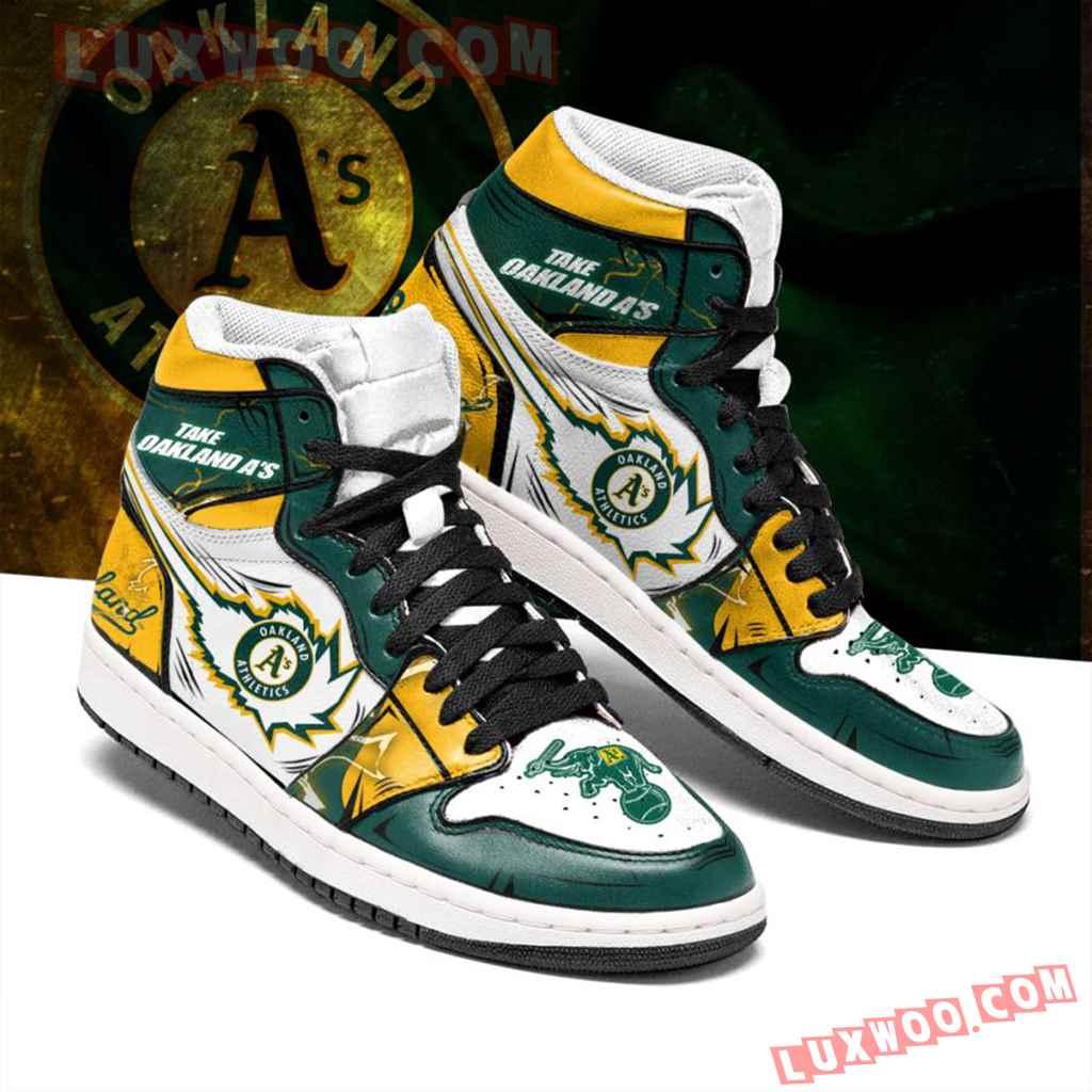 Mlb Oakland Athletics Air Jordan 1 Custom Shoes Sneaker V1