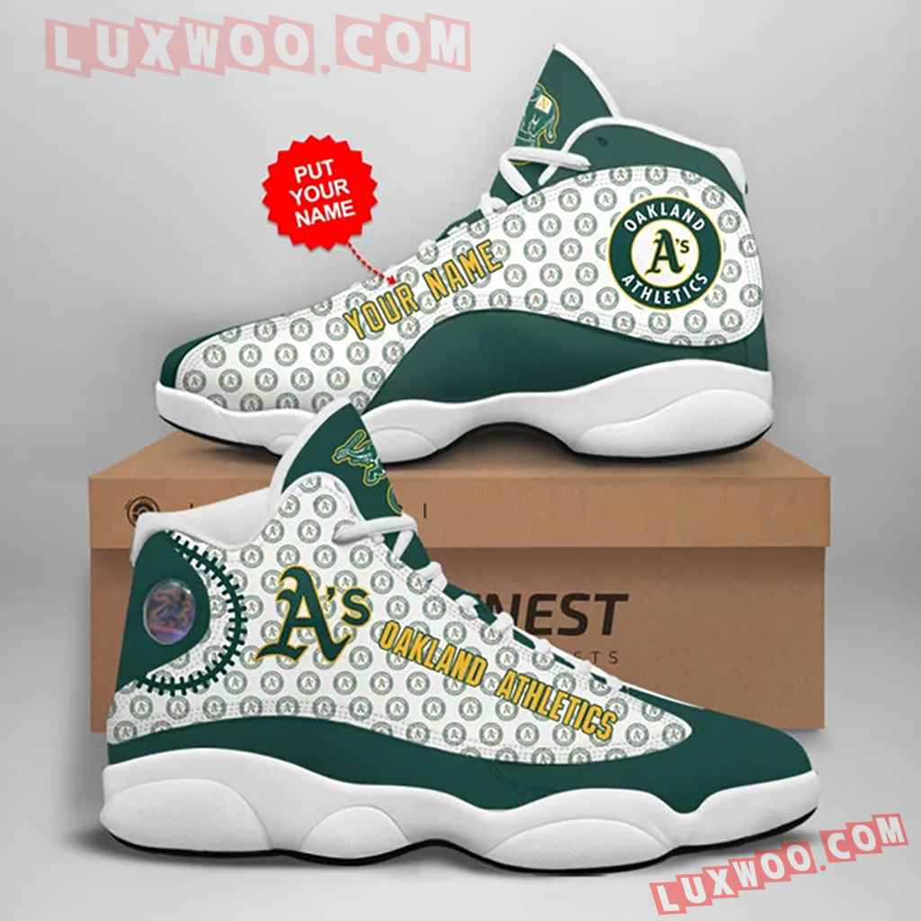 Mlb Oakland Athletics Air Jordan 13 Custom Shoes Sneaker V1 Personalized