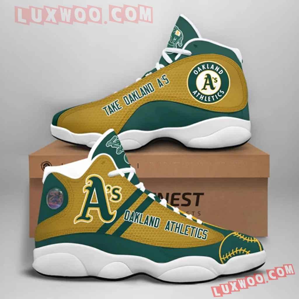 Mlb Oakland Athletics Air Jordan 13 Custom Shoes Sneaker V1