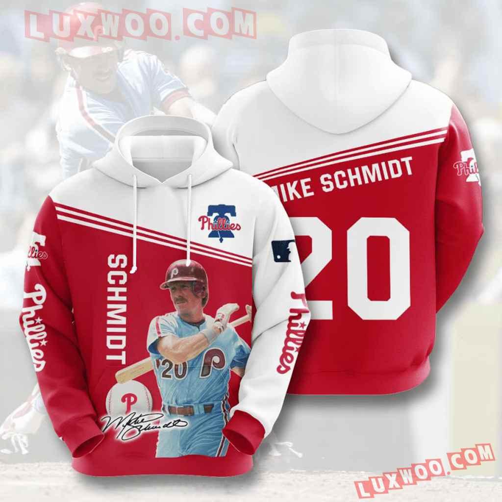 Mlb Philadelphia Phillies 3d Hoodies Printed Zip Hoodies Sweatshirt Jacket V1