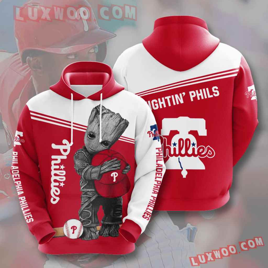 Mlb Philadelphia Phillies 3d Hoodies Printed Zip Hoodies Sweatshirt Jacket V10