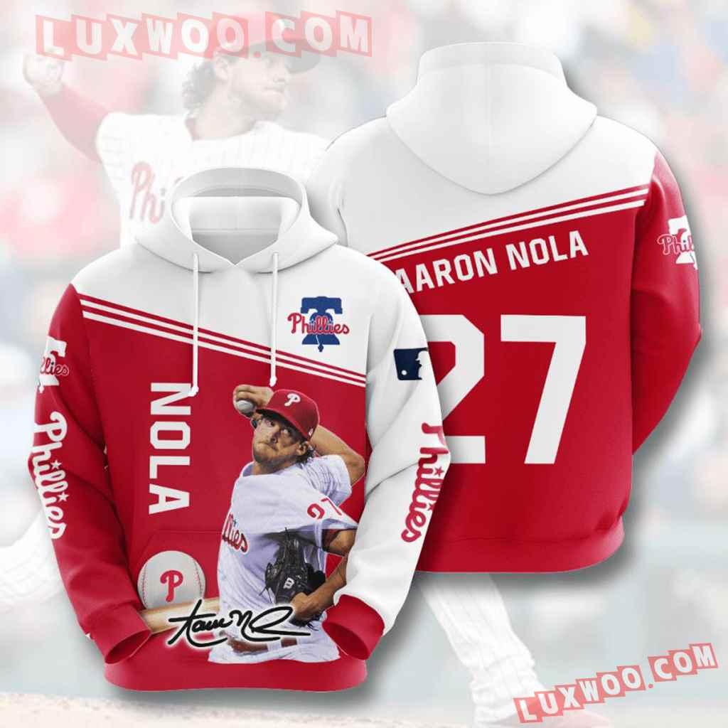 Mlb Philadelphia Phillies 3d Hoodies Printed Zip Hoodies Sweatshirt Jacket V12