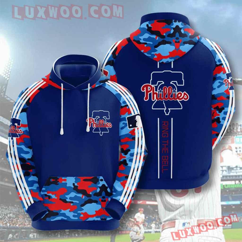 Mlb Philadelphia Phillies 3d Hoodies Printed Zip Hoodies Sweatshirt Jacket V13