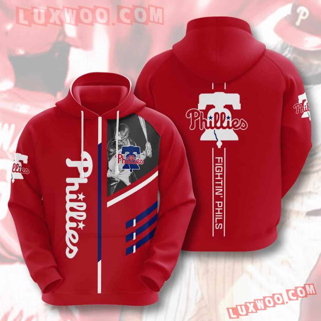 Mlb Philadelphia Phillies 3d Hoodies Printed Zip Hoodies Sweatshirt Jacket V2
