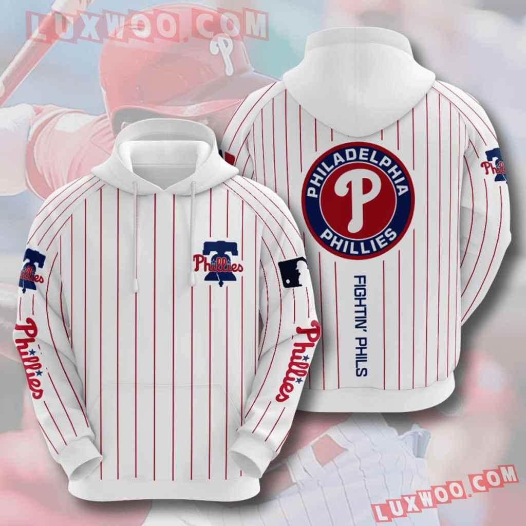 Mlb Philadelphia Phillies 3d Hoodies Printed Zip Hoodies Sweatshirt Jacket V3