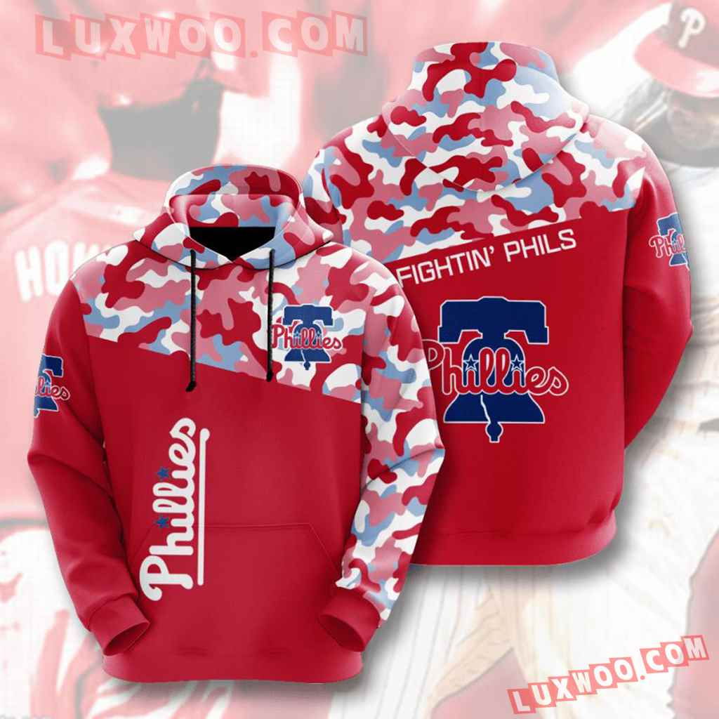 Mlb Philadelphia Phillies 3d Hoodies Printed Zip Hoodies Sweatshirt Jacket V4