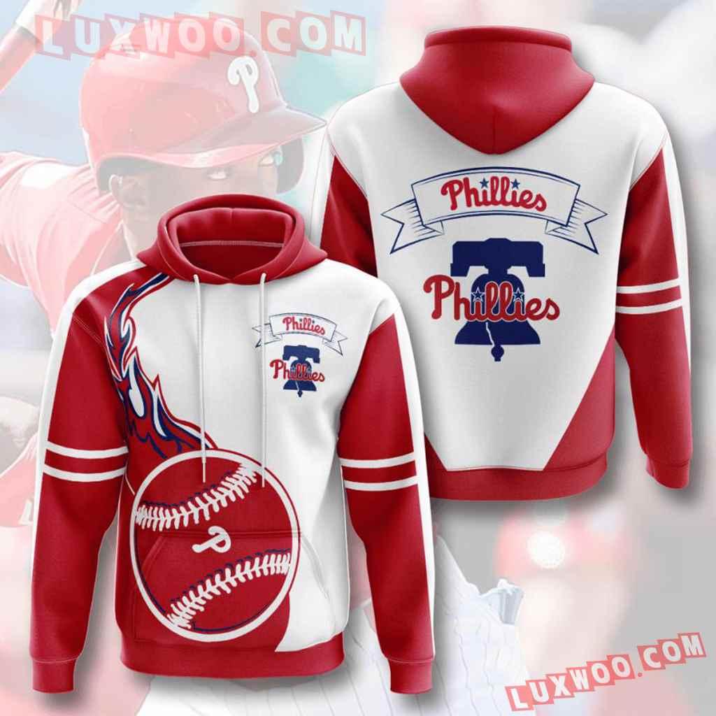 Mlb Philadelphia Phillies 3d Hoodies Printed Zip Hoodies Sweatshirt Jacket V5