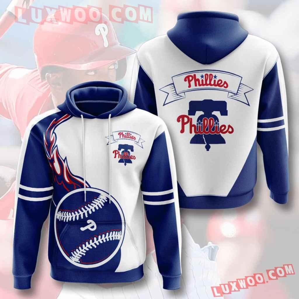 Mlb Philadelphia Phillies 3d Hoodies Printed Zip Hoodies Sweatshirt Jacket V6