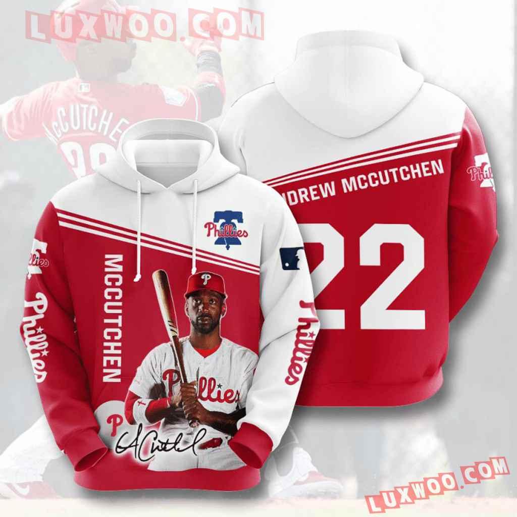 Mlb Philadelphia Phillies 3d Hoodies Printed Zip Hoodies Sweatshirt Jacket V7