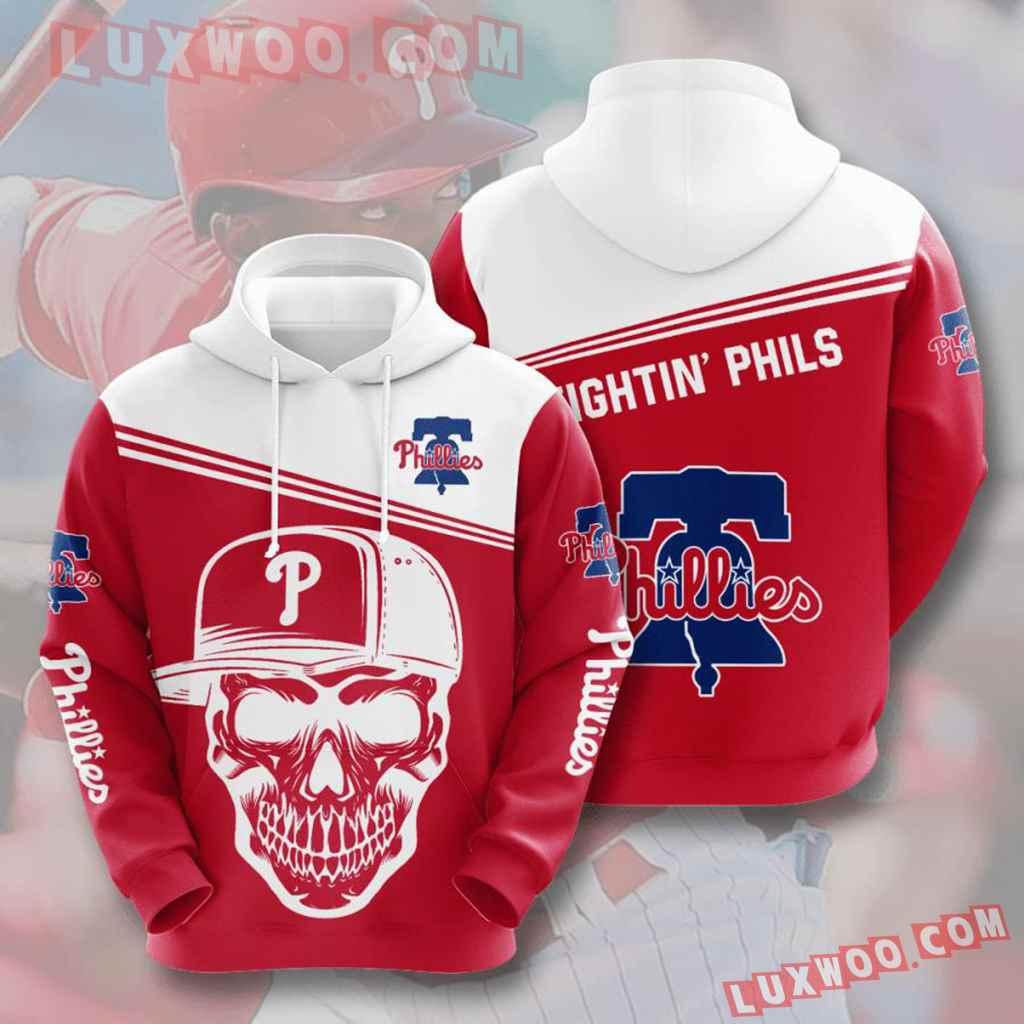 Mlb Philadelphia Phillies 3d Hoodies Printed Zip Hoodies Sweatshirt Jacket V9